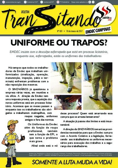 Boletim Transitando Campinas - 18/Jan/2017