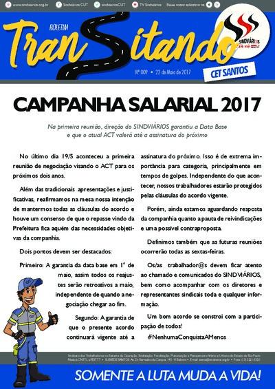 Boletim Transitando Santos - Sindiviários - Maio/17