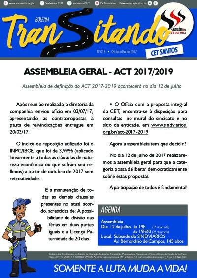 Transitando CET Santos - 13/7/17