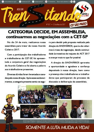 Boletim Transitando São Paulo - Sindiviários - Maio/17