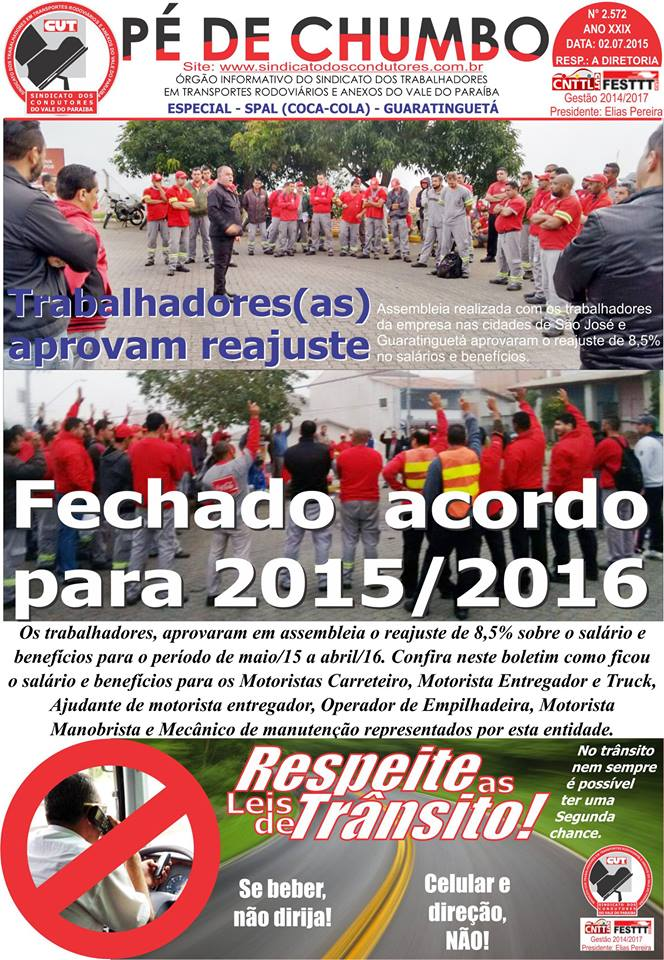 Boletim - Pé de Chumbo - 06/07/2015