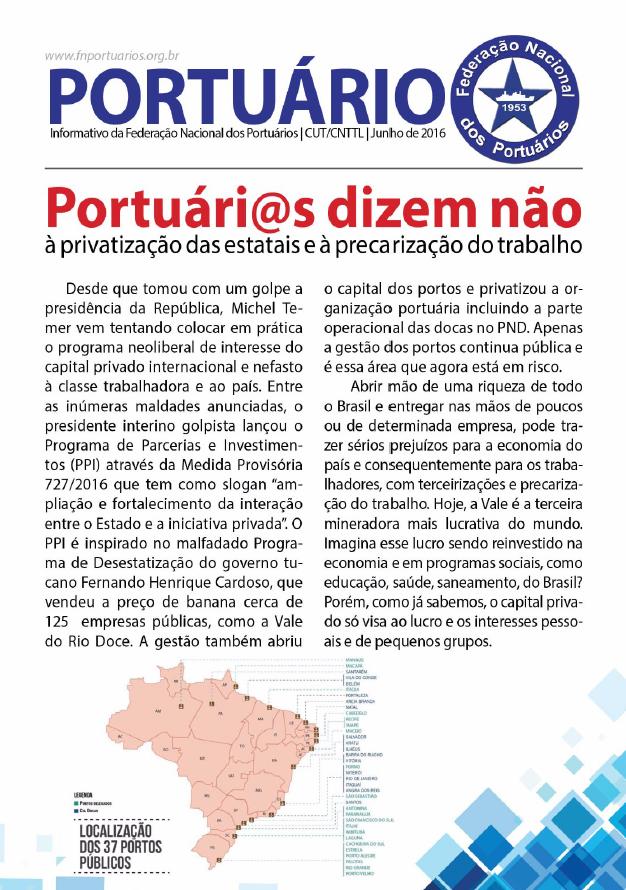 Boletim Federação Nacional dos Portuários