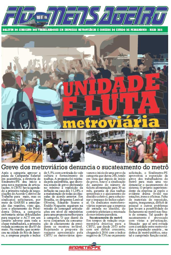 Jornal Fio Mensageiro - Metroviários PE