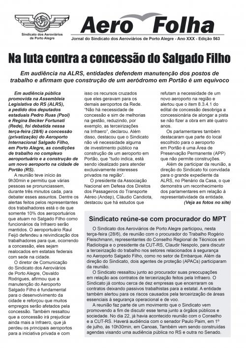 Aerofolha - Sindicato dos Aeroviários de Porto Alegre