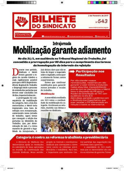Boletim do Sindicato - Metroviários de SP