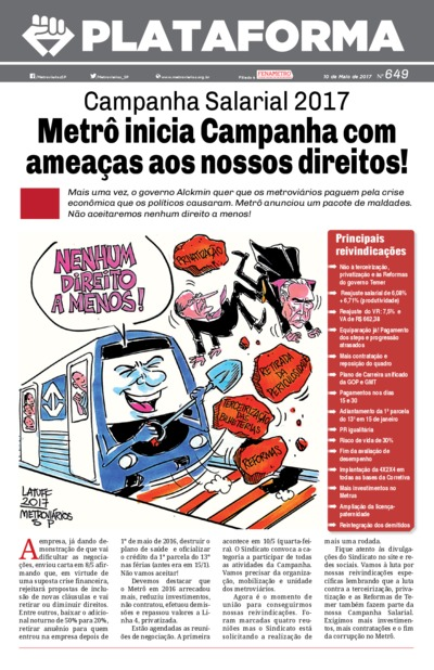 Boletim Metroviários