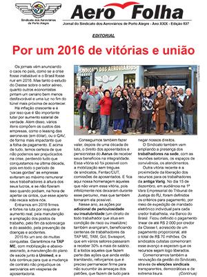 Aerofolha - Sindicato dos Aeroviários de Porto Alegre - Dezembro
