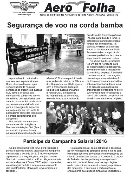 Aerofolha - Sindicato dos Aeroviários de Porto Alegre - Ed. 573
