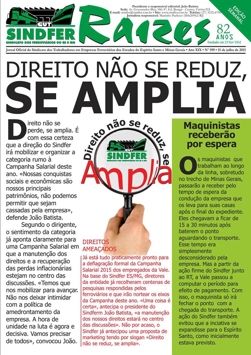 Jornal Sindfer - Raízes- julho de 2015