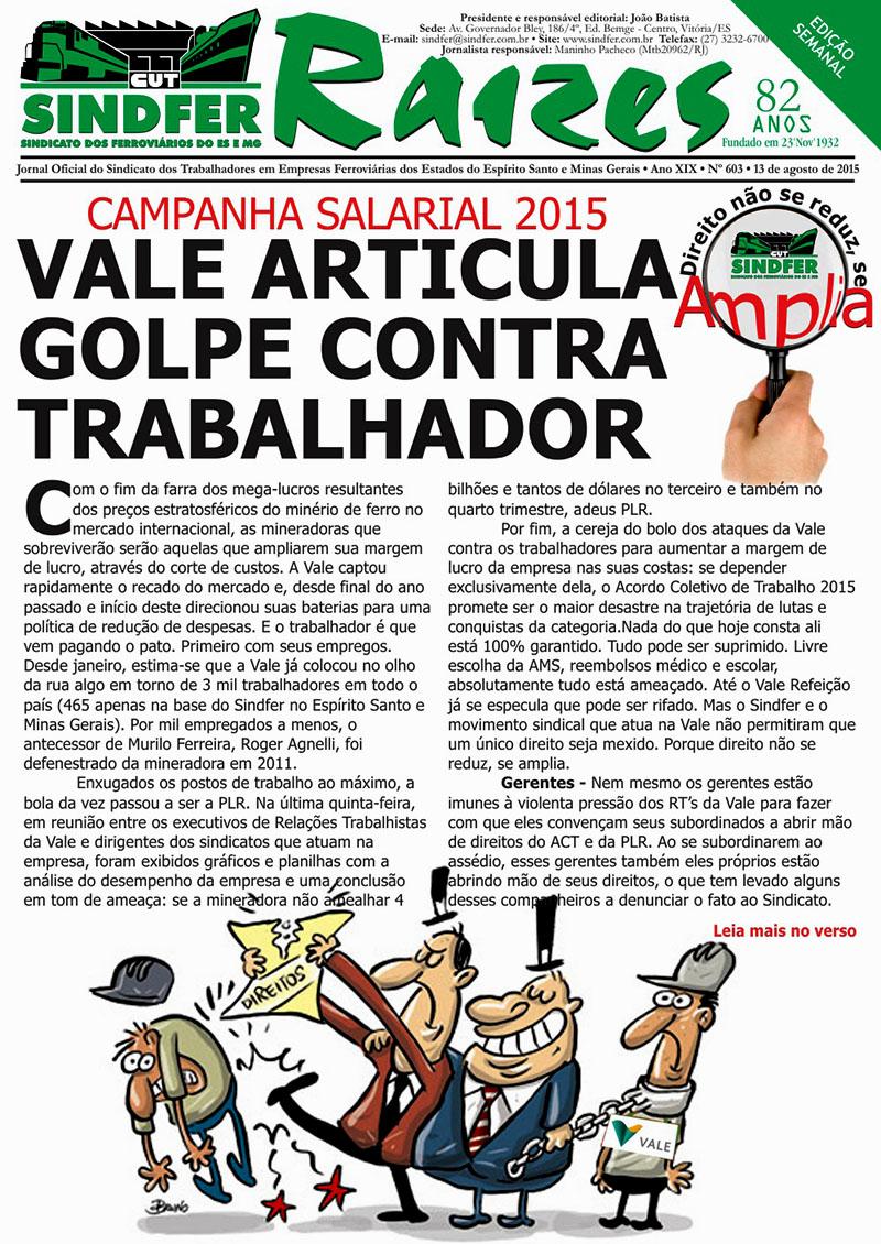 Jornal Sindfer - Raízes- agosto de 2015