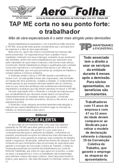 Aerofolha - Ed. 626 - Set/2017