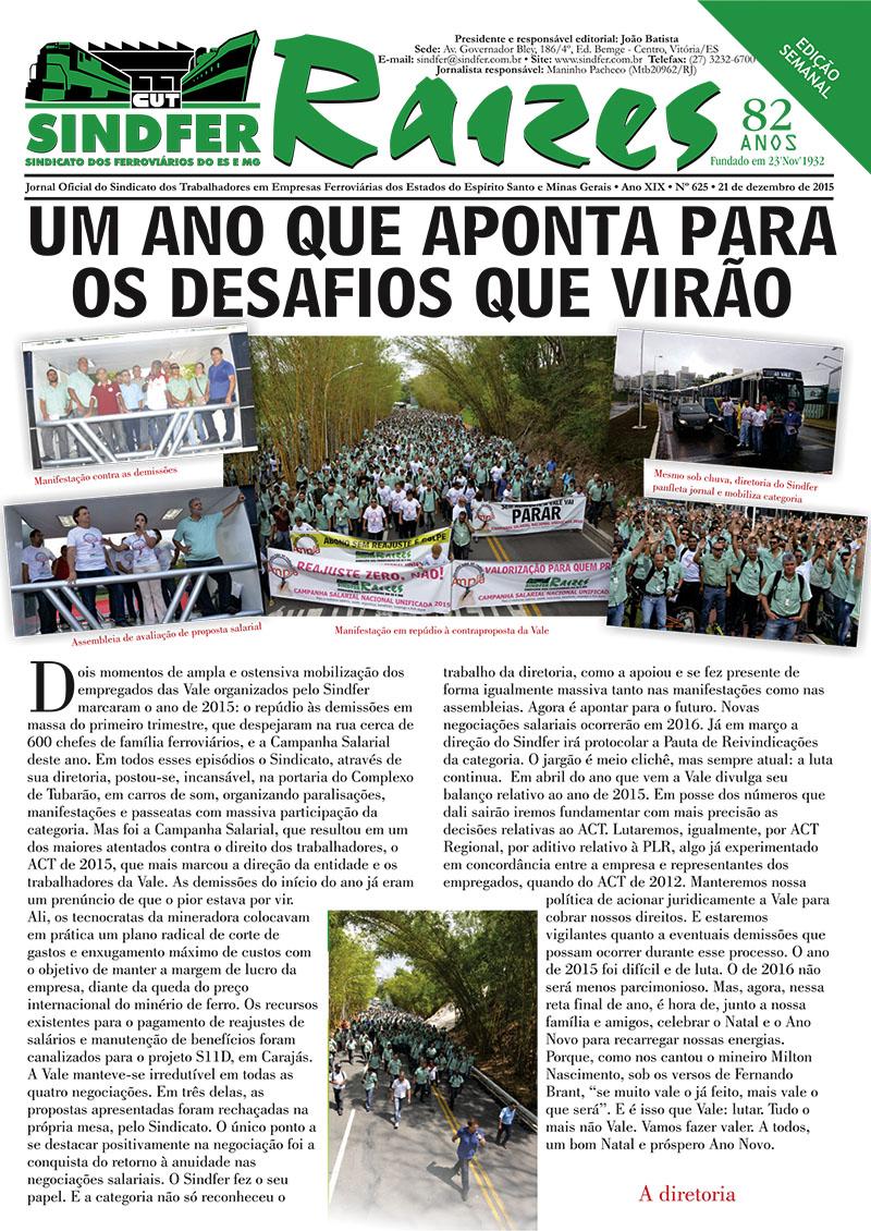 Jornal Sindfer - Raízes- 21 de dezembro de 2015