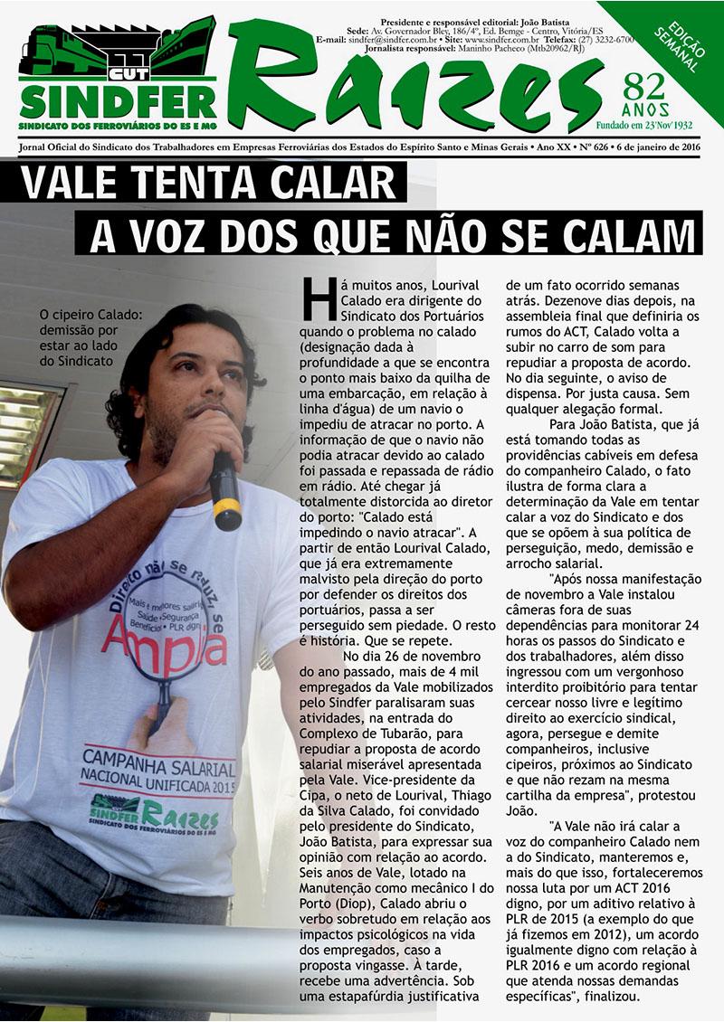 Jornal Sindfer Raízes- Janeiro 2016