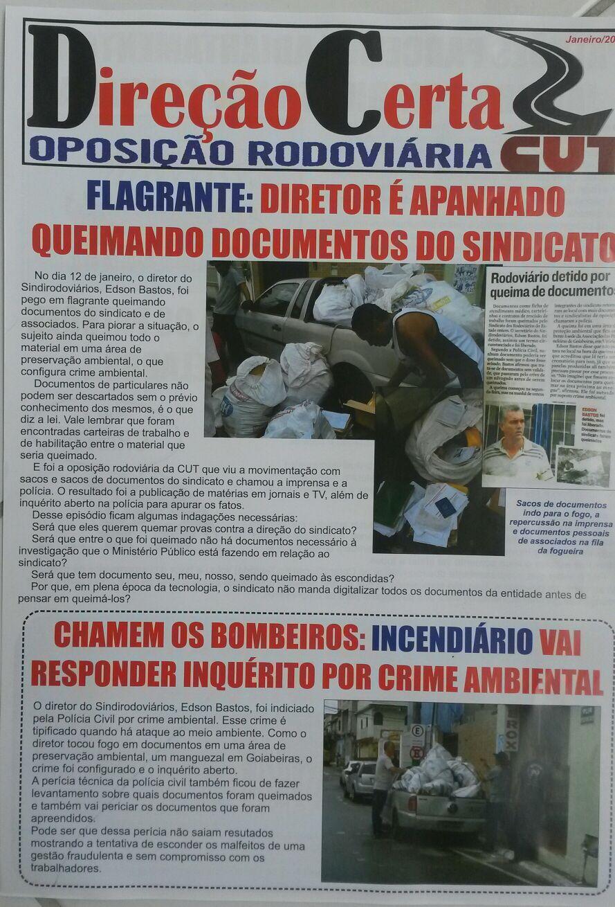 Jornal oposição Rodoviária - Direção Certa