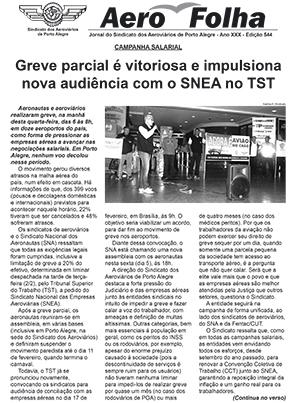 Aerofolha - Sindicato dos Aeroviários de Porto Alegre - Fevereiro de 2016