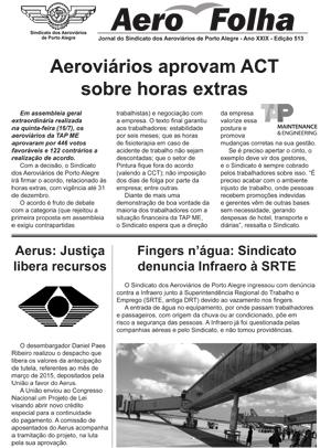 Aerofolha - Sindicato dos Aeroviários de Porto Alegre - 17 de julho de 2015