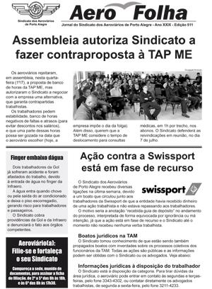 Aerofolha - Sindicato dos Aeroviários de Porto Alegre - 2 de julho de 2015