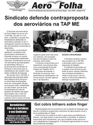 Aerofolha - Sindicato dos Aeroviários de Porto Alegre - 8 de julho de 2015