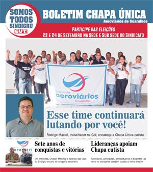 Boletim Chapa Única dos Aeroviários de Guarulhos