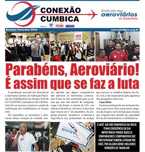 Boletim - Parabéns aeroviários - Fevereiro