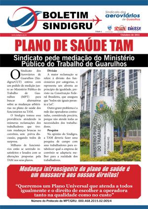 Boletim - Plano de Saúde TAM - Outubro de 2015