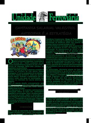 Boletim Unidade Ferroviaria Nº 662 - Abril 2015