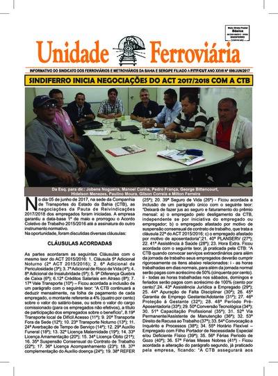 Unidade ferroviária Campanha Salarial-  jun/17