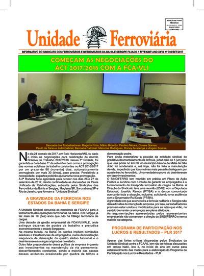 Boletim Unidade Ferroviária - Ed. 703 - Set/2017