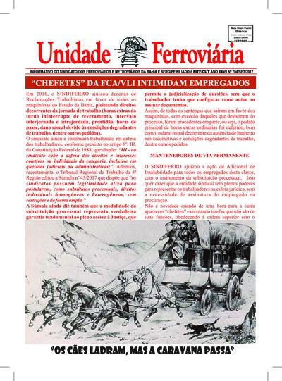 Boletim Unidade Ferroviária - Ed. 704 - Set/2017