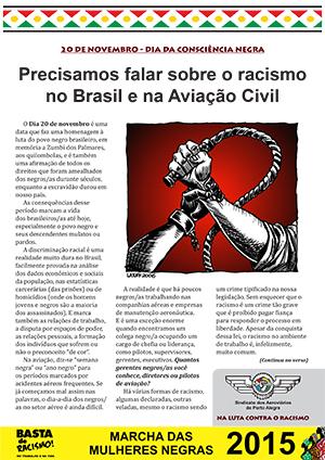 Boletim Dia da Consciência Negra - Sindicato dos Aeroviários de Porto Alegre - 19/11/15