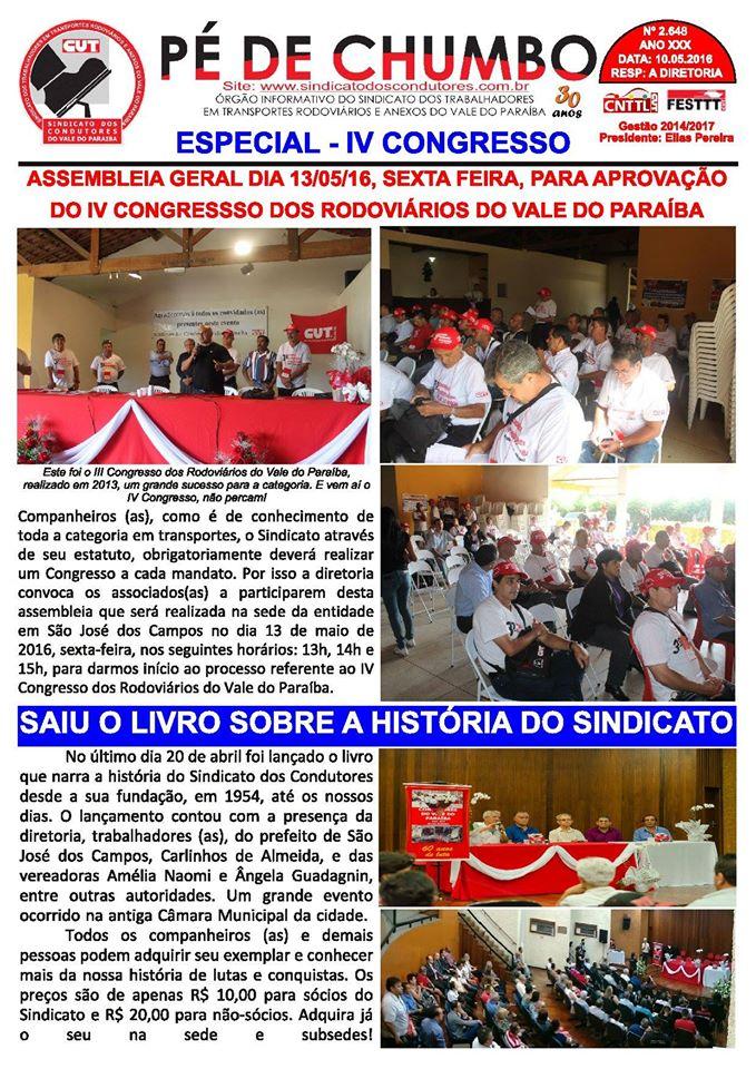 Boletim Pé de Chumbo - Vale do Paraíba