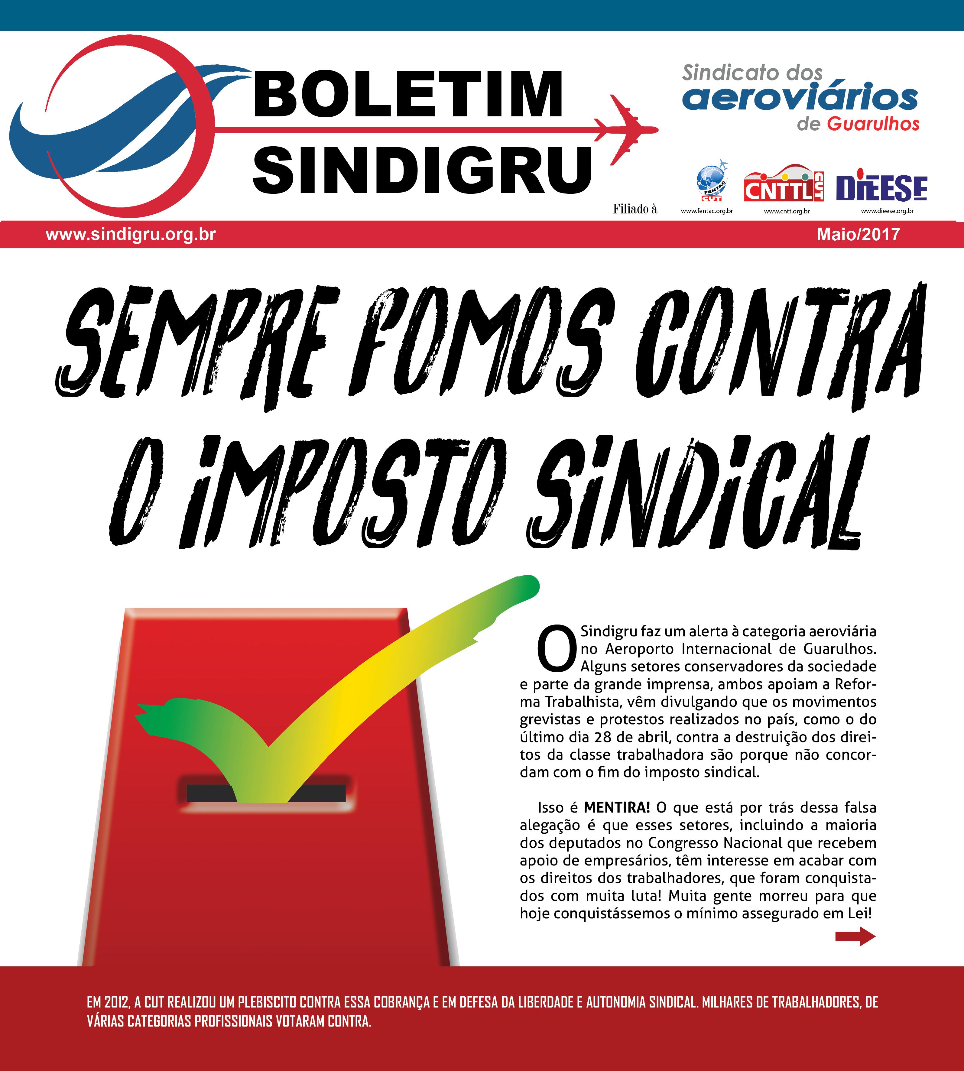Boletim Sindigru Maio/2017