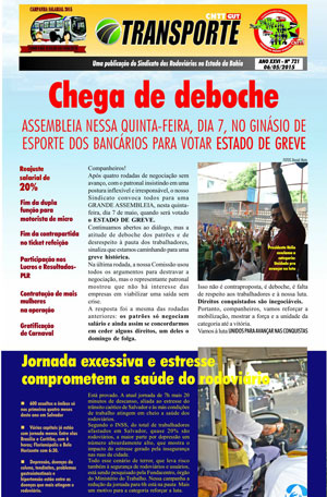 Boletim - Sindicato da Bahia - Nº 721