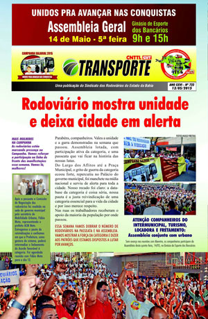Boletim - Sindicato da Bahia - Nº 722