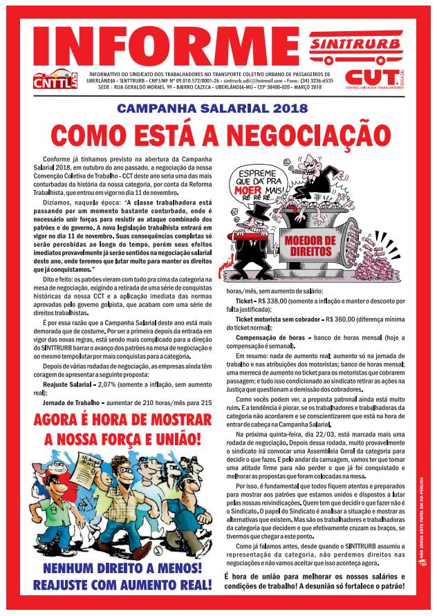 Panfleto Negociação - Campanha Salarial 2018