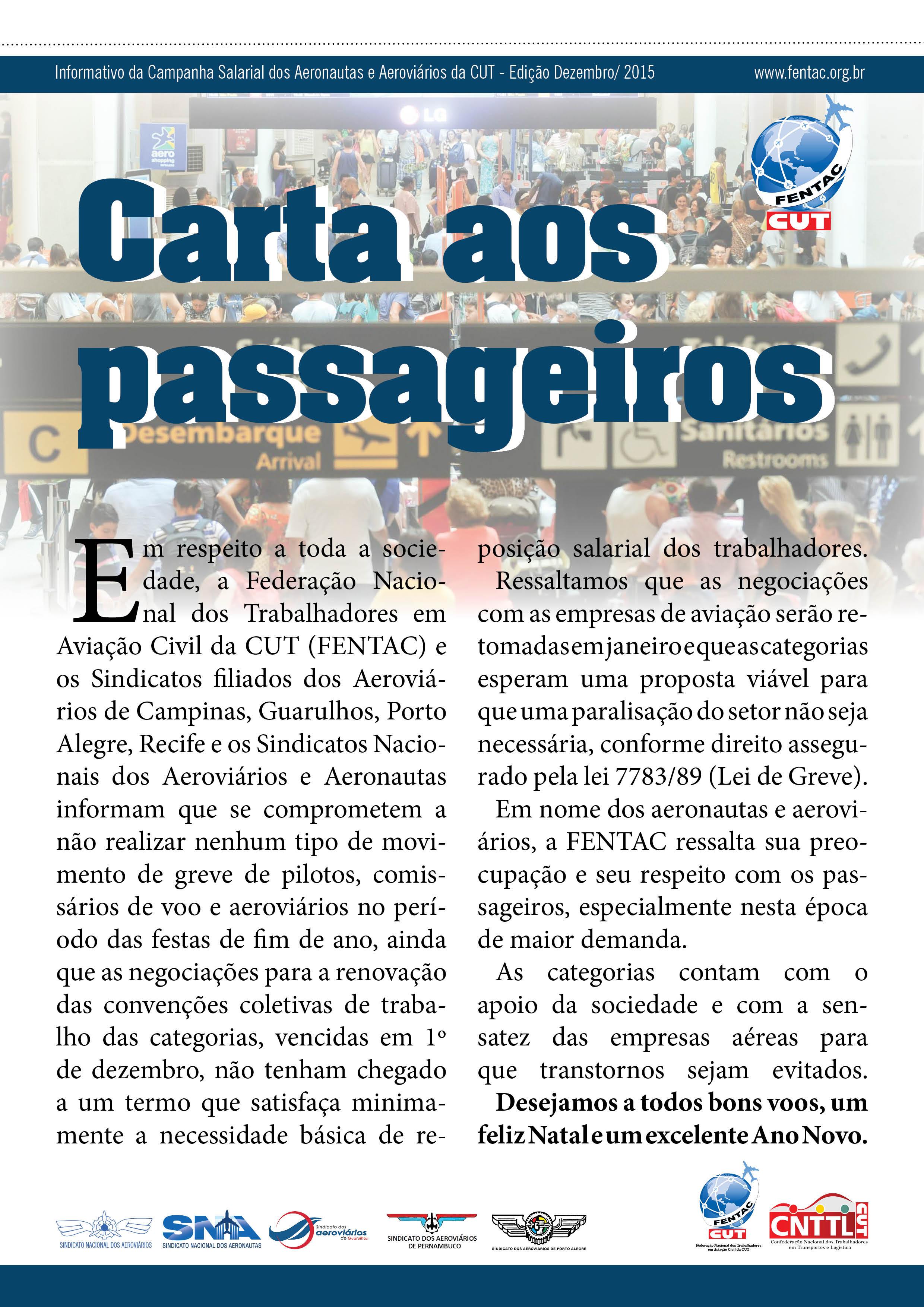 Carta Aberta aos Passageiros