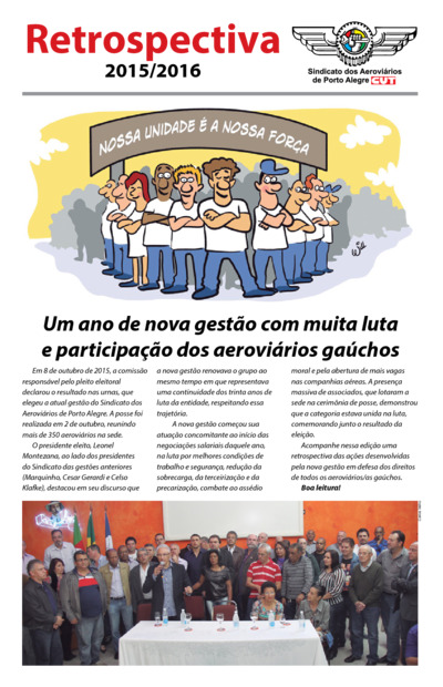 Jornal Retrospectiva 2016 Sindicato dos Aeroviários de Porto Alegre