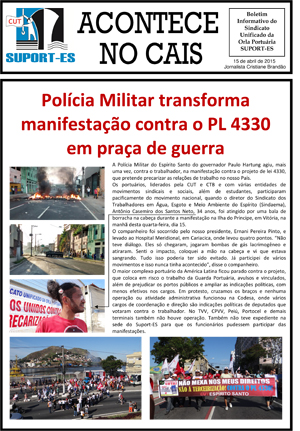Boletim do SUPORT-ES - Abril de 2015