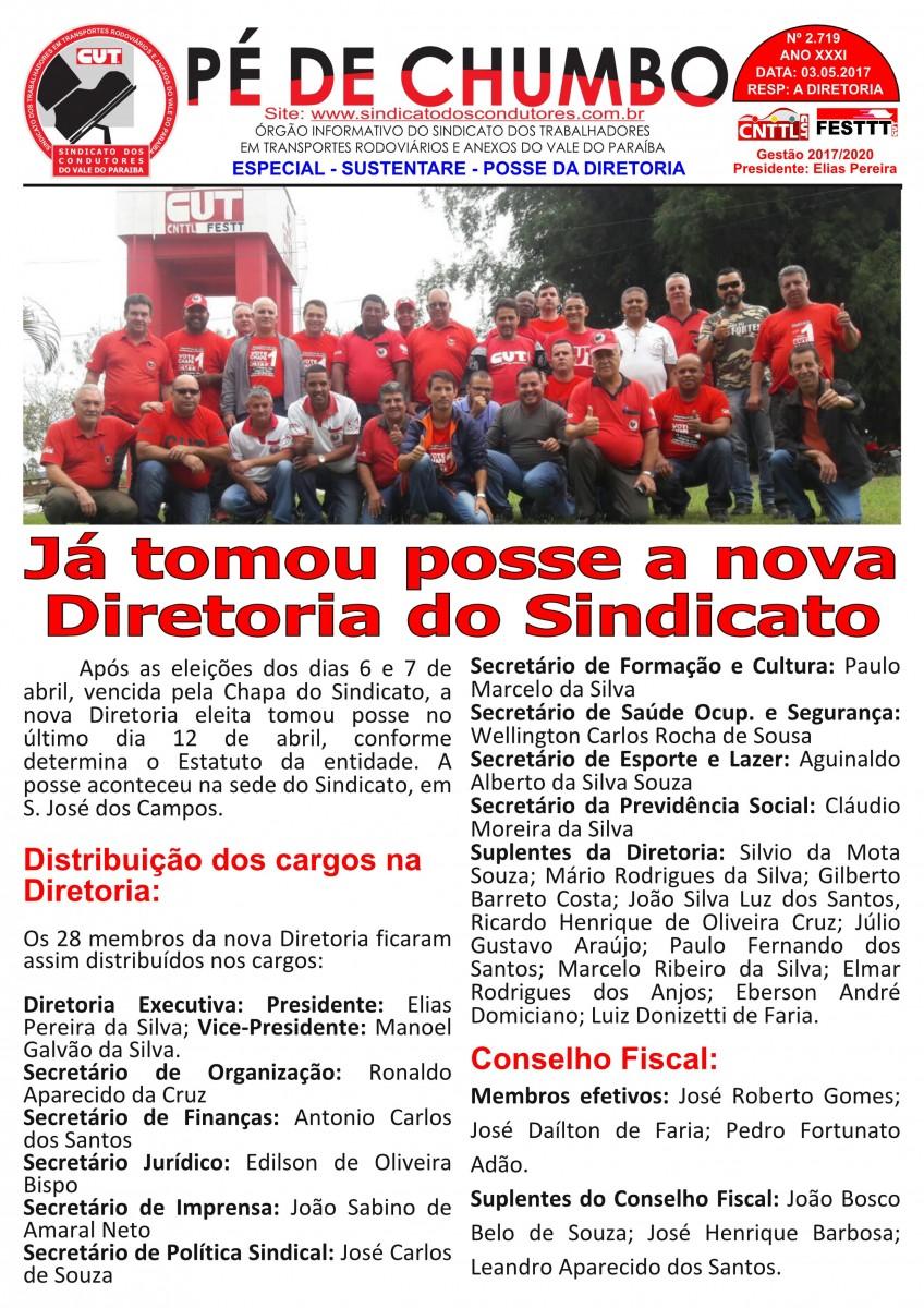 Boletim Pé de Chumbo - Condutores do Vale do Paraíba - Posse Diretoria