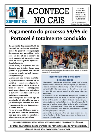 Acontece no cais - out/17