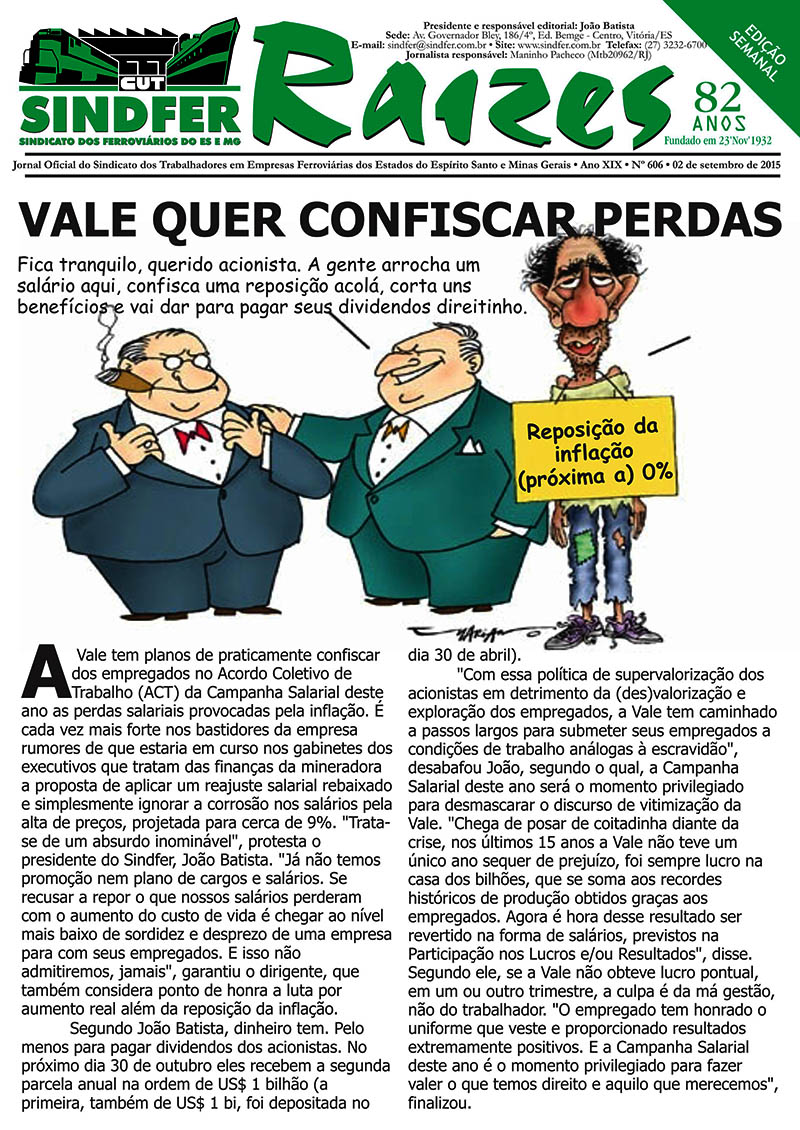 Jornal Sindfer - Raízes- 31 de Agosto de 2015