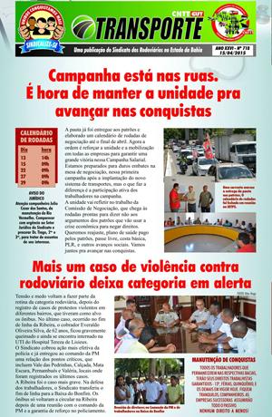 Boletim Rodoviários da Bahia - Abril de 2015