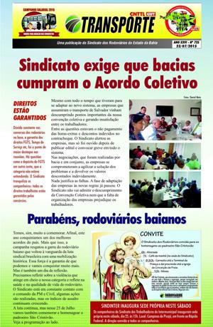 Boletim - Sindicato da Bahia - Nº 725