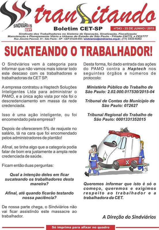 Boletim Transitando - Sindviários do Estado de São Paulo