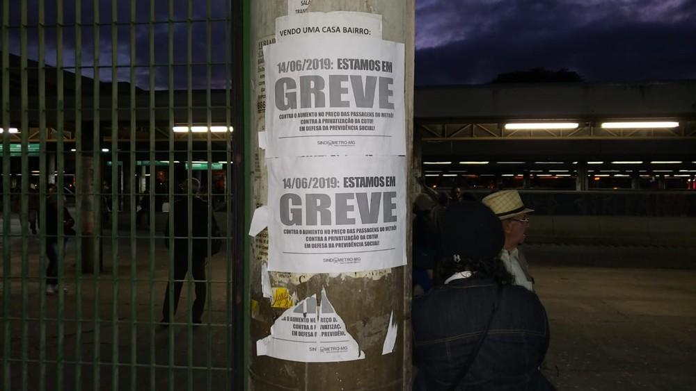 Imagem de #GreveGeral Metroviários em Belo Horizonte cruzam os braços