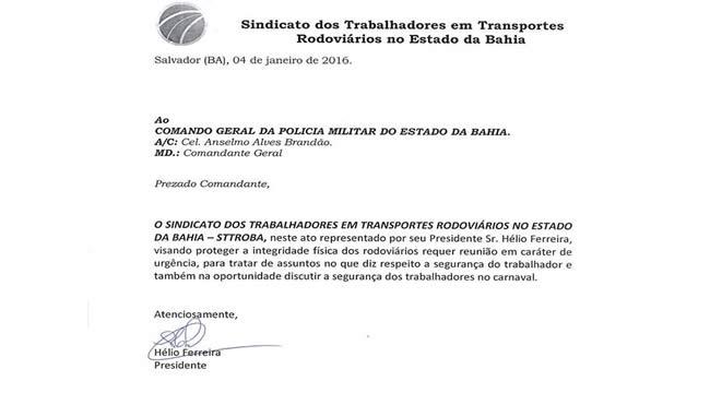 Imagem de Bahia: Rodoviários exigem reunião com comando da PM para cobrar mais segurança
