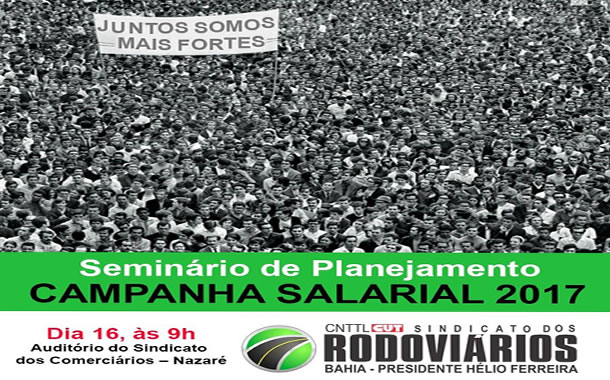 Imagem de Bahia: Rodoviários realizam Seminário de Planejamento da Campanha Salarial