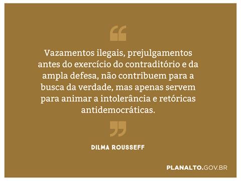 Imagem de Dilma manifesta inconformismo com