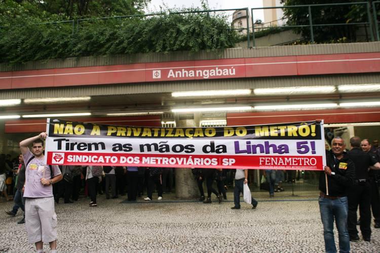 Imagem de SP: Metroviários farão protesto em consulta pública sobre privatização na sexta (23)
