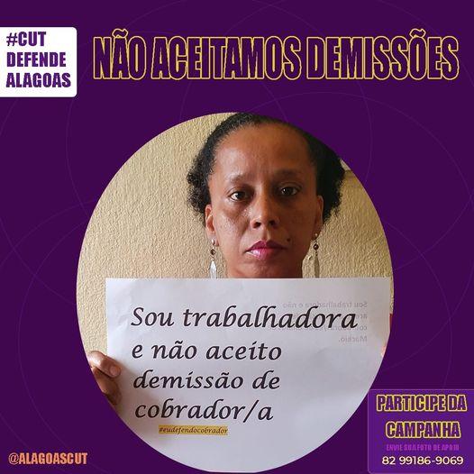 Imagem de CUT Alagoas divulga campanha nas redes sociais em defesa do emprego dos cobradores